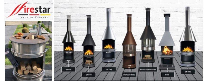 Tulisijoihin ja grillaukseen korkealaatuiset Firestar pihatakka tuotteet. Made in Germany.
