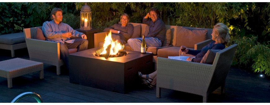 Patiotulipöydät,Terassitakat ja pöytätulet toimivat turvallisesti kaasulla. Erittäin tehokas lämmönlähde esim. lasitetulle terassille.