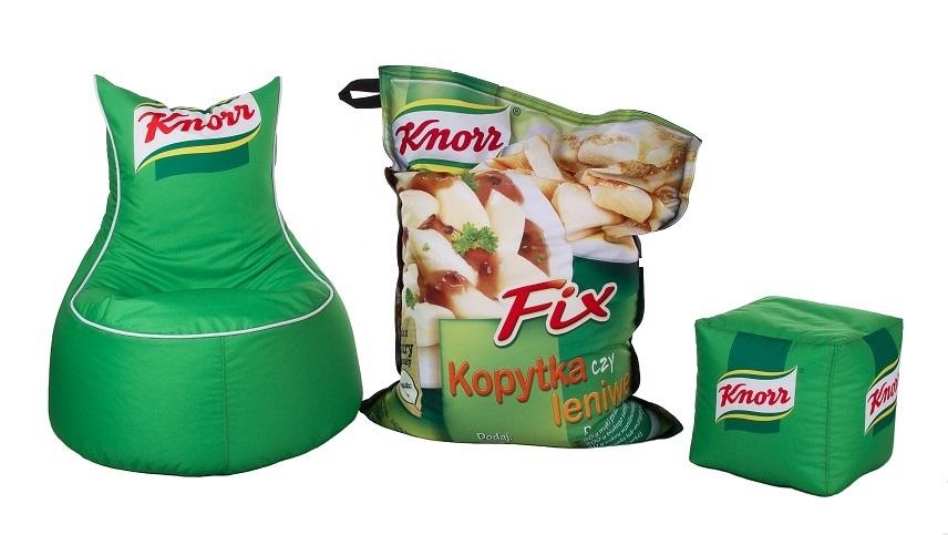 Knorr painetut säkkituolit